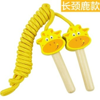 Male girl wooden kindergarten activities toys gift skipping rope skipping