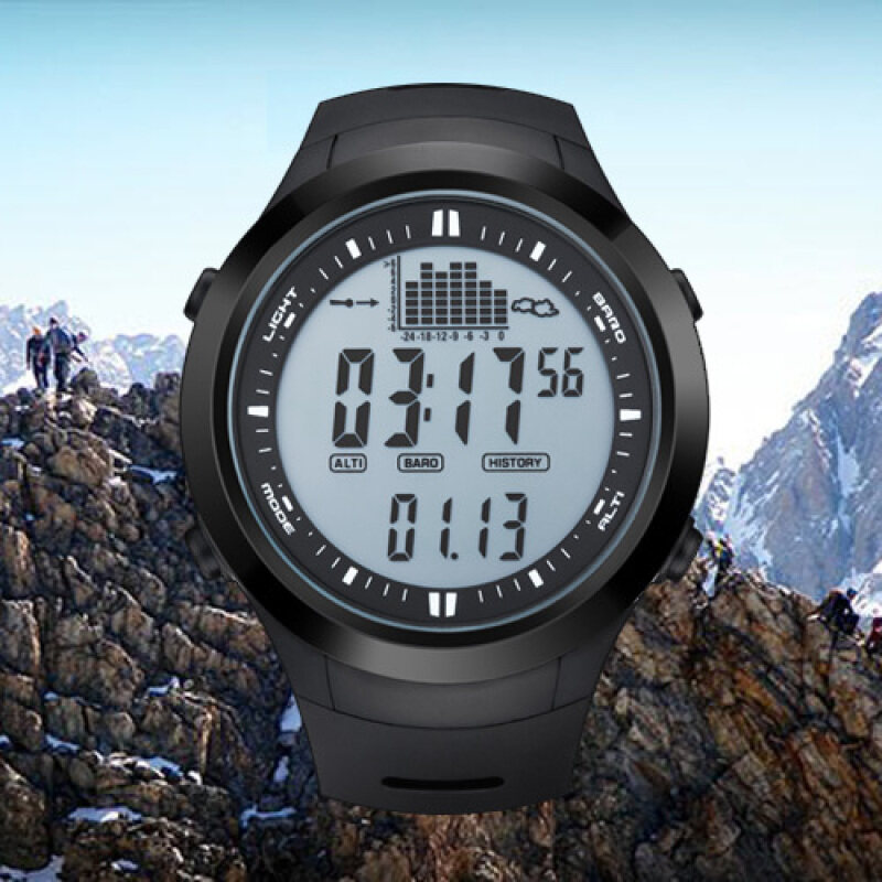 NORTHEDGE digital watches Men Watch with Weather forecast Altimeter Barometer Thermometer Altitude for Climbing Hiking Fishing Outdoor sports /Grey screen Malaysia