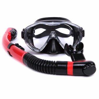 Professional hot sale Whale brand 4 Colors Scuba Diving MaskSnorkel Goggles Set Silicone Swimming Pool Equipment
