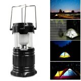 SOKANO Multipurpose Solar Power Lantern Outdoor Super Bright Rechargeable Camping Light- Black