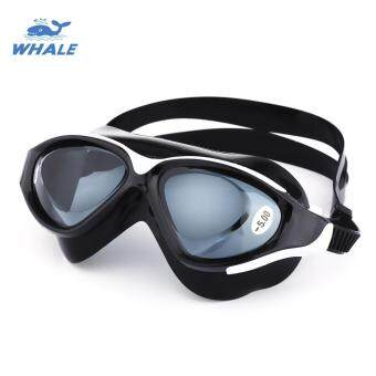 Whale Adult Large Frame Anti-fog UV Protection Swimming Glasses with Myopia Lens 500 DEGREE