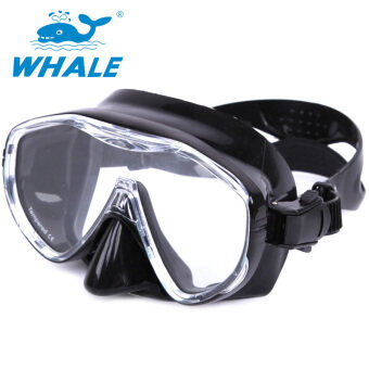 Whale Brand Anti-fog Diving Snorkeling Tool Snorkel Mask Black