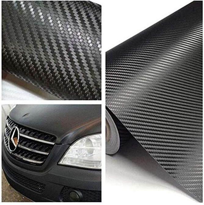 UK Carbon Fiber Wrap Roll Sticker Sheet Decorative Practical Paster for Car