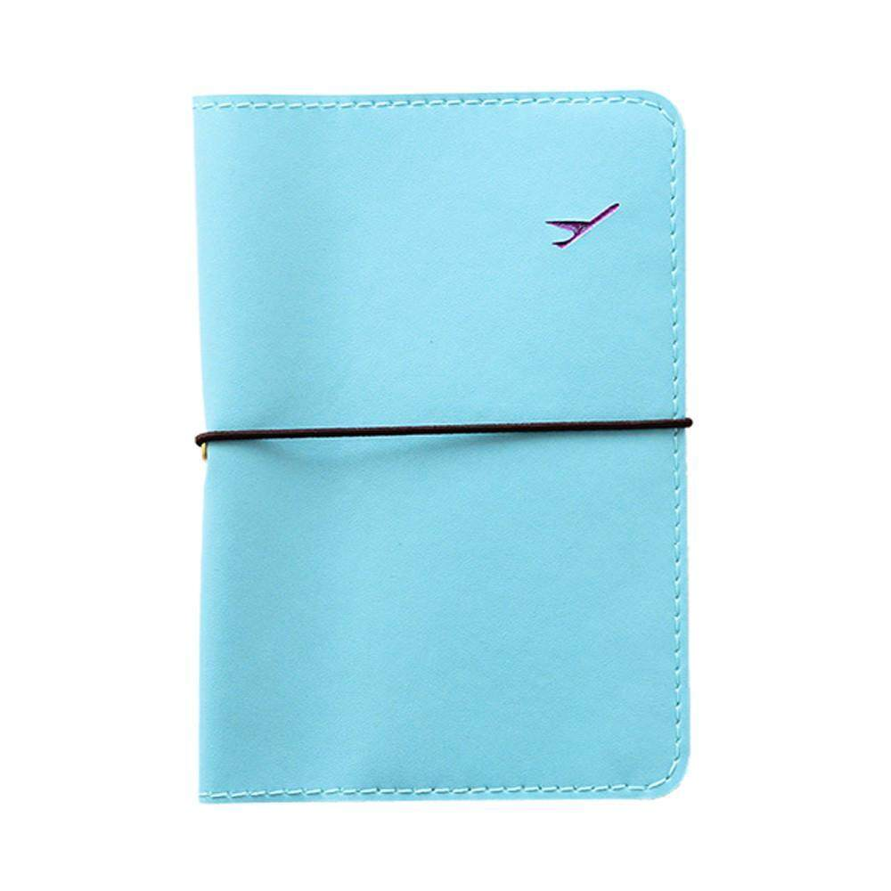 f73d9d207 Product details of FashionieStore Travel Leather Passport Holder Card Case  Protector Cover Wallet Bag Blue