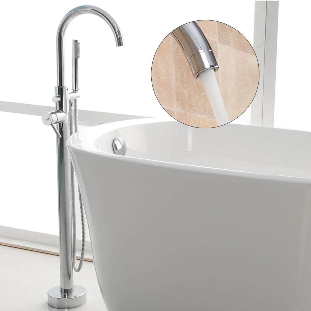 4 Style Retro Bathroom Free Standing Floor Mounted Bath Tub Hand Held Shower Head Tap