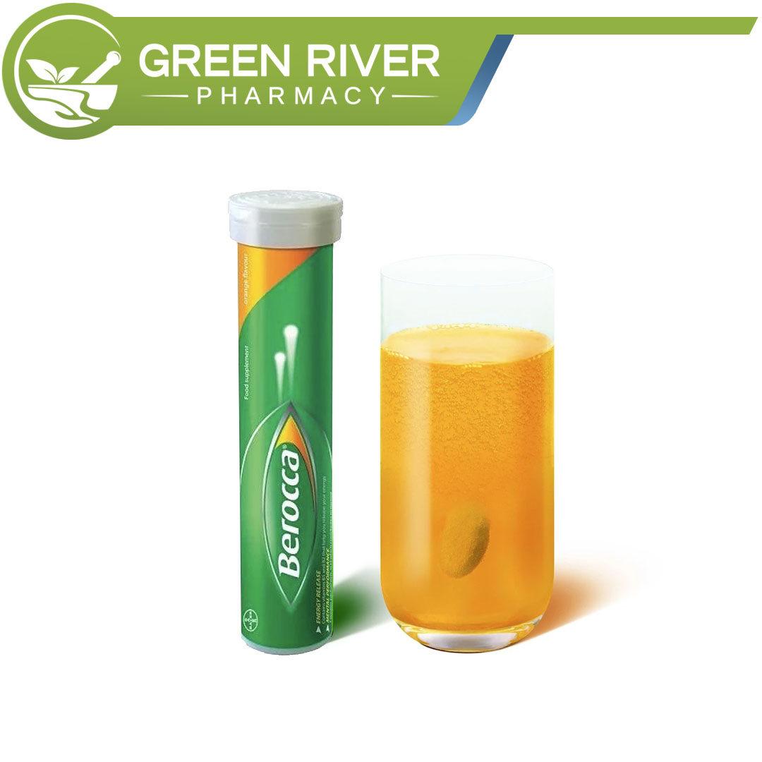 Berocca Effervescent Tablet 15s Orange Flavour Vitamin C Multivitamins (Exp 10/2021) Vitamin B1 B2 B3 B5 B6 B12 C Calcium Berroca Berrocca Beroca
