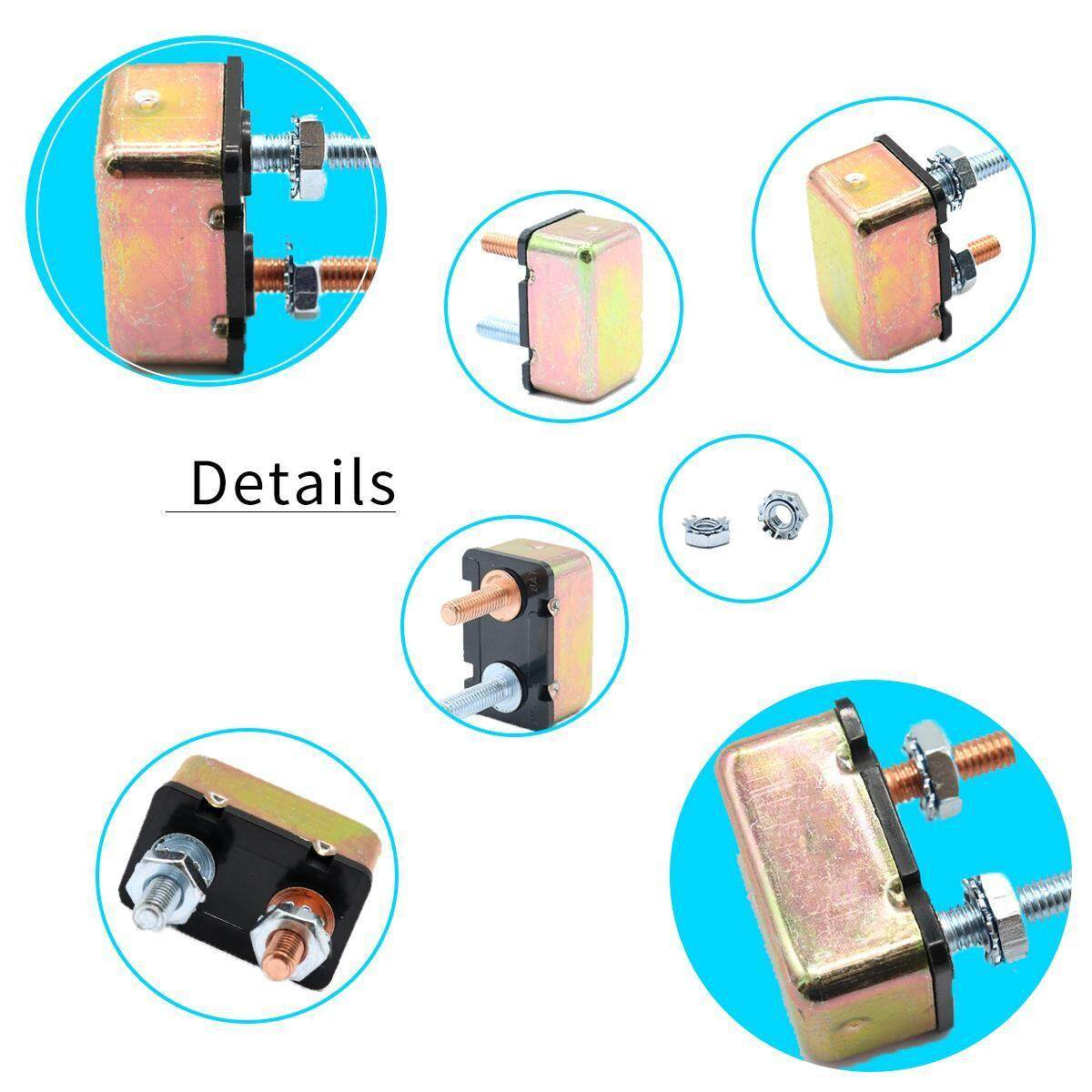 20a Auto Reset Circuit Breaker Stud Mounting Bracket Holder Bus Bar Breakers Mount Automotive A Perfect Protector Of Your Vehicle Which Can Effectively Prevent From Damage