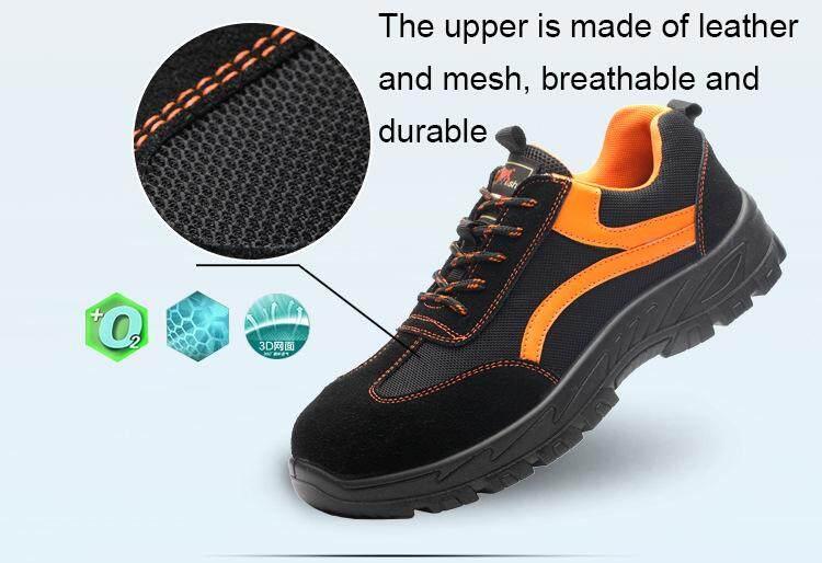Non-metallic safety shoes men leather bot safety boot metal free  anti-smashing insulation 6KV work boots