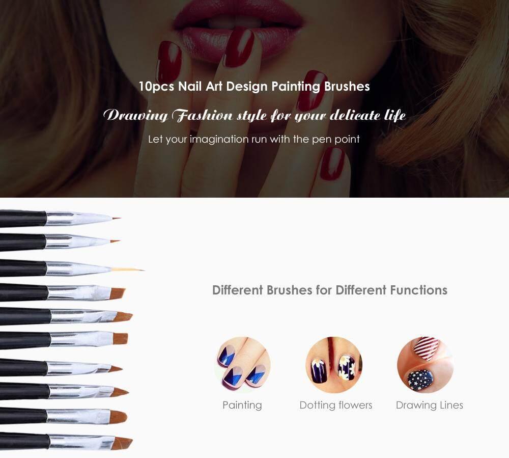 10pcs Nail Design Brush Manicure for Painting Dot Tool Brushes