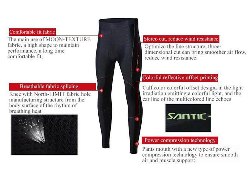Women/'s Cycling Long Pants Gel Padded Ladies Elastic Breathable Tight Pants