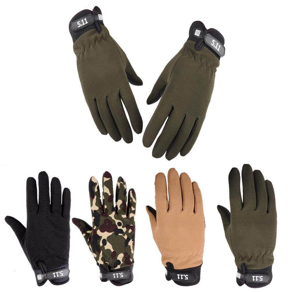 Mens Army Military Full Finger Outdoor Hunting Driving Racing Tactical  Gloves