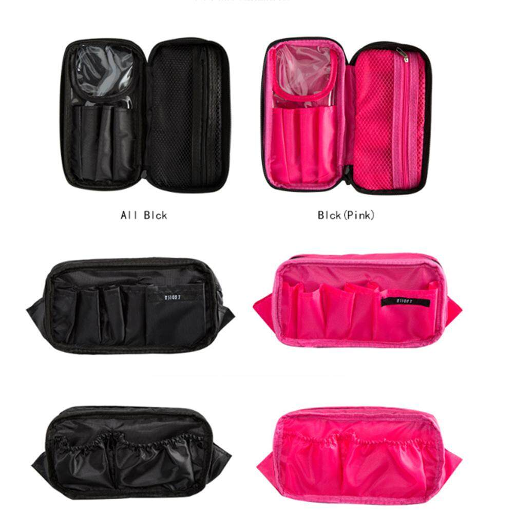 Bly Double Zipper Large Capacity Makeup Bag Brush Storage Two Sided Travel Toiletries Organizer