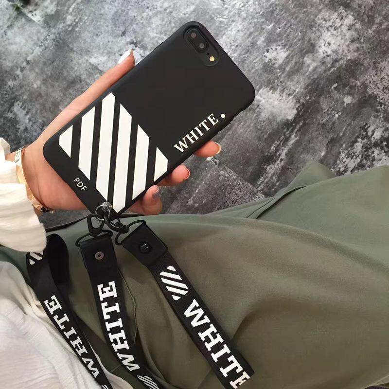 big sale 0775f f14d7 iPhone 7 8 Case Off White Inspired Style Back Cover for iphone 6 6s With  Lanyard