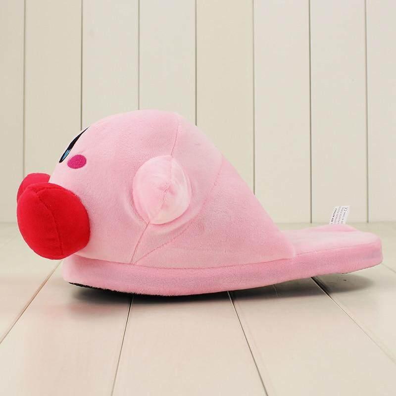 a61c9baa2 32cm Anime Cartoon Cute Kirby Pink Plush Slippers House Winter ...