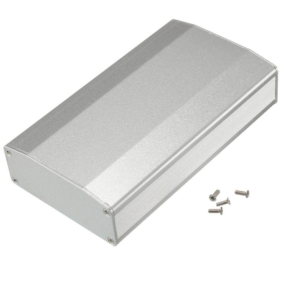 3pcs aluminum box circuit board enclosure case project electronicmaterial aluminum color black silver external dimensions 110x64x25 5mm 4 33x2 52x1 00 inch (lxwxh) internal dimensions 110x60 4x22 5mm