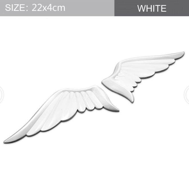 3D Fashion Personalized Universal Metal Car Logo Sticker Emblem Auto Badge  Decal For White Wings Logo Body Sticker Tail Sticker Car Sticker