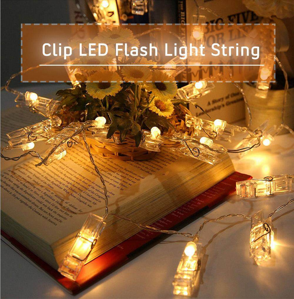 Clip Creative Led Photo Wall String Colorful Flash Light Bedroom Decoration Warm White Lazada