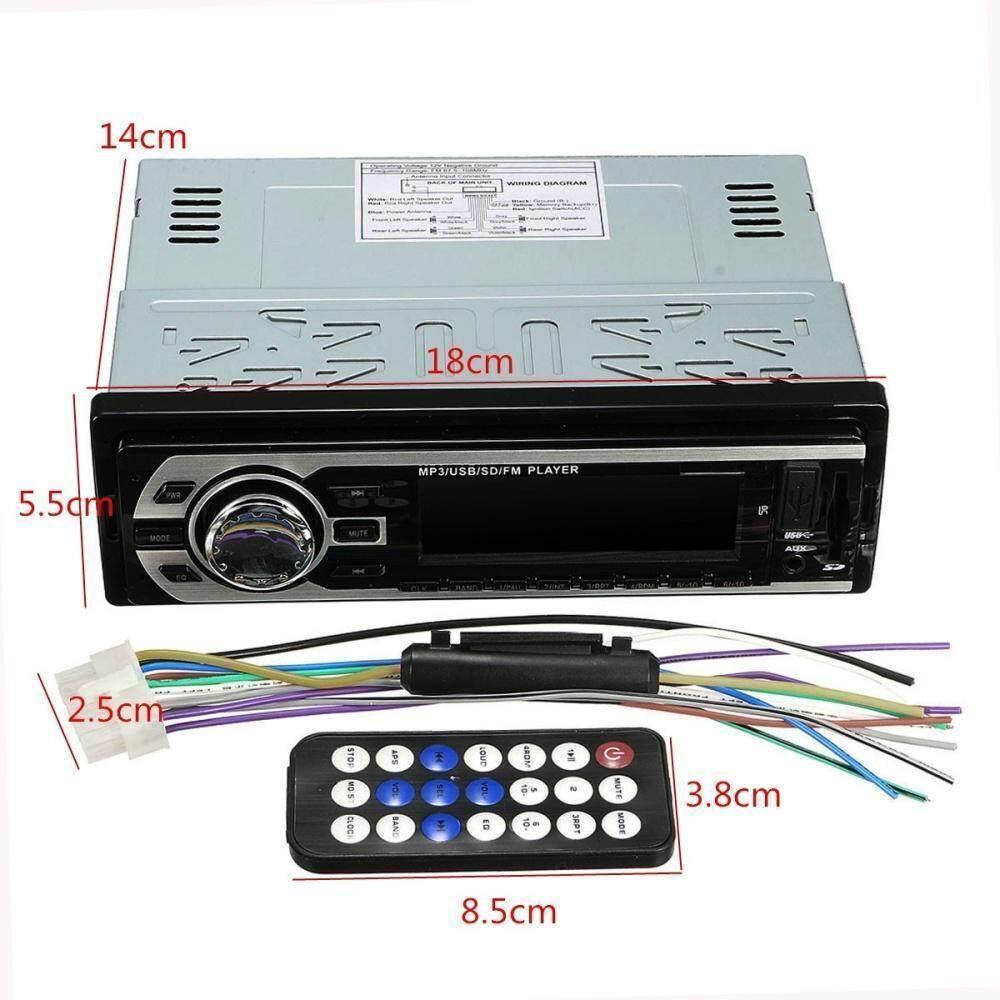 Car Bluetooth Stereo Audio In-Dash FM Aux Input Receiver SD USB MP3 Radio  Player