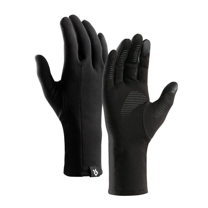Winter Gloves Men Thermal Winter Sports Leather Touch Screen Gloves Outdoor Non-slip Touch Screen Large Cotton Gloves Black Rapid Heat Dissipation Back To Search Resultsapparel Accessories