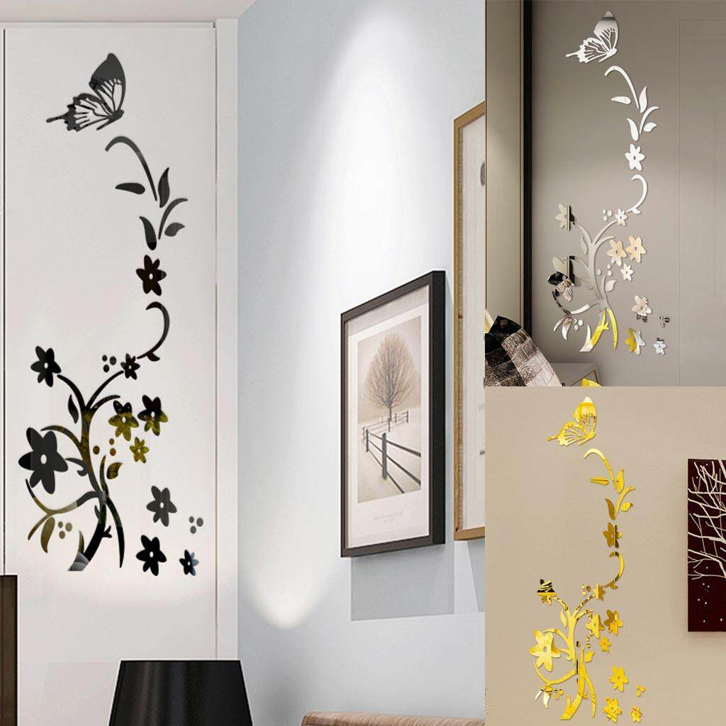 3D Diy Flower Shape Acrylic Wall Sticker Modern Fashionable Stickers Decoration