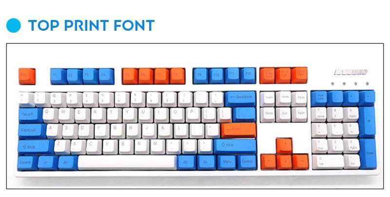 Keyboard keycaps Blank 87 Keys Layout Thick PBT Keycap White Blue Raindrop Color Matching Keycaps Color : 87 Key