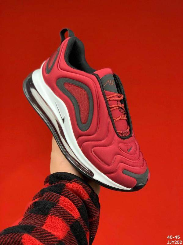 Original Nike Air Max 720 Flyknit Men Full Palm Cushion Wear resistant Shock absorbing Running Shoes Basketball Shoes Sports Shoes(one Pair of Nike's