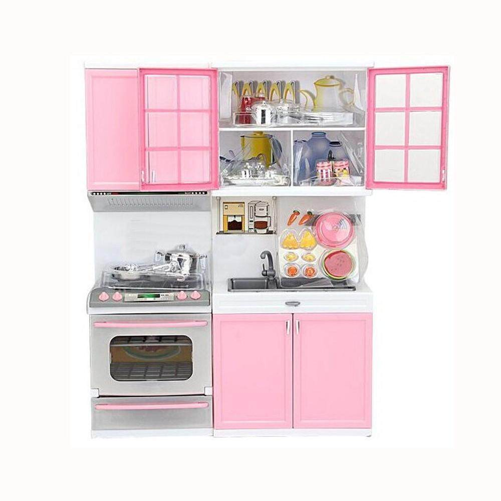 Xmas Gift Mini Kids Kitchen Pretend Play Cooking Set Cabinet Stove Girls Toy Aitaostore