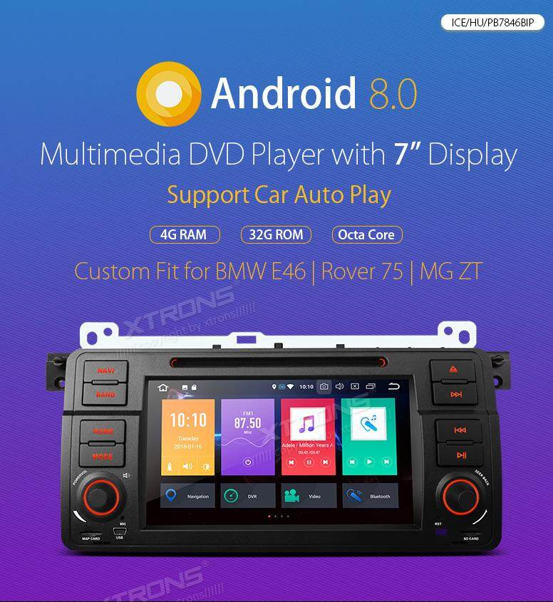 XTRONS 7 inch 4+32GB 8 0 Android Car Stereo Bluetooth 5 0 HD Digital  Multi-Touch Screen OBD2 DVR Car Stereo DVD Player Tire Pressure Monitoring  TPMS
