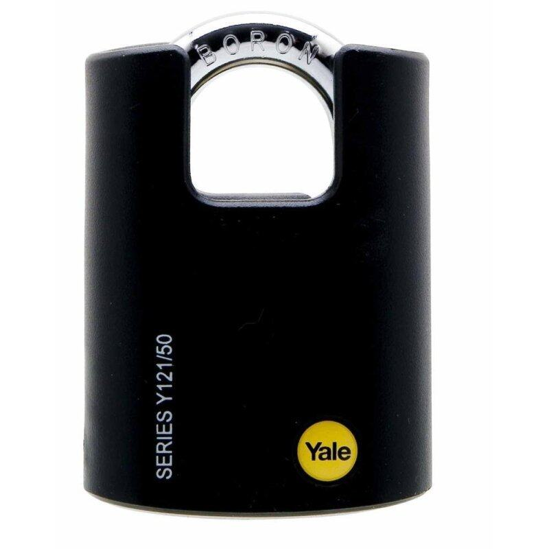 Yale Y121/50/132 Boron Steel Shackle with Plastic Cover Padlock
