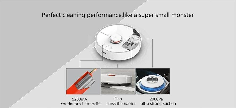Xiaomi Roborock Robot Vacuum Cleaner 2 Smart Cleaning Global Version