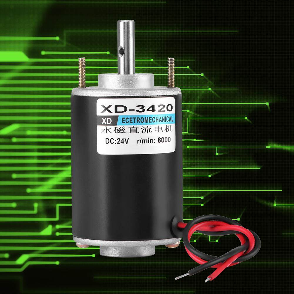 XD-3420 DC12V//24V 30W 3000//6000RPM Large Power DC Motor Adjustable Speed CW//CCW