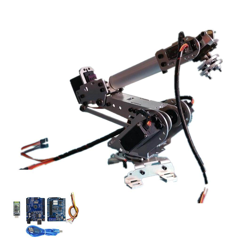 Miracle Shining DIY 6 DOF Mechanical Robotic Arm Clamp with Servos Kit for  Robot Arduino