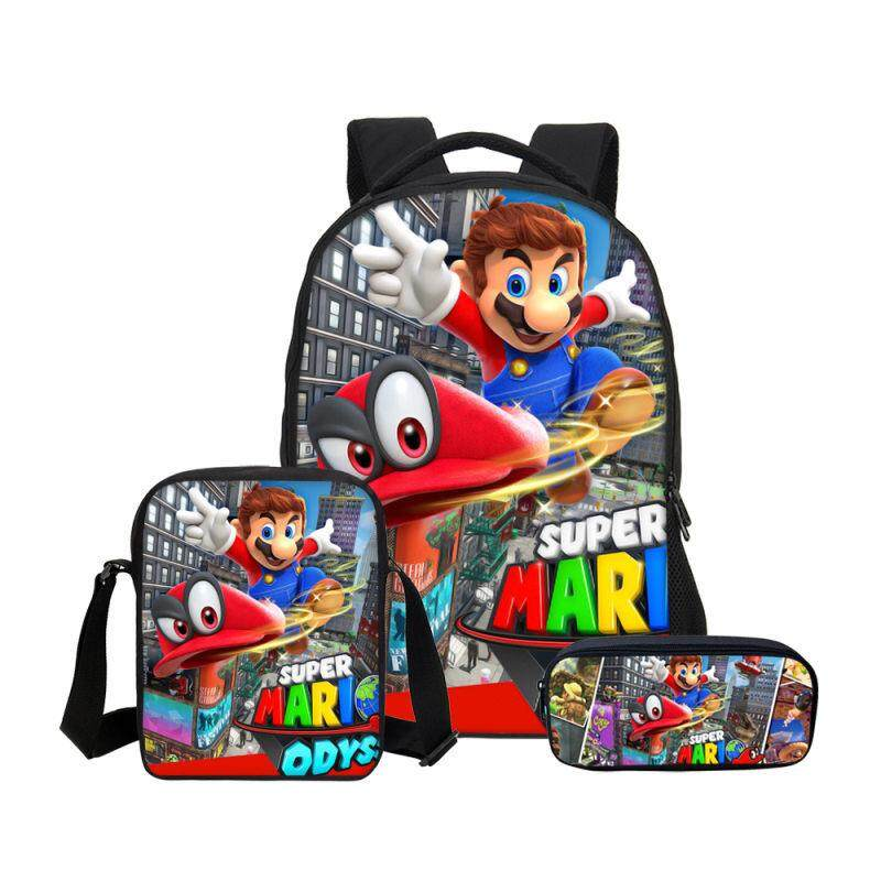 Super Mario Odyssey schoolbag cartoon backpack student shoulder bag