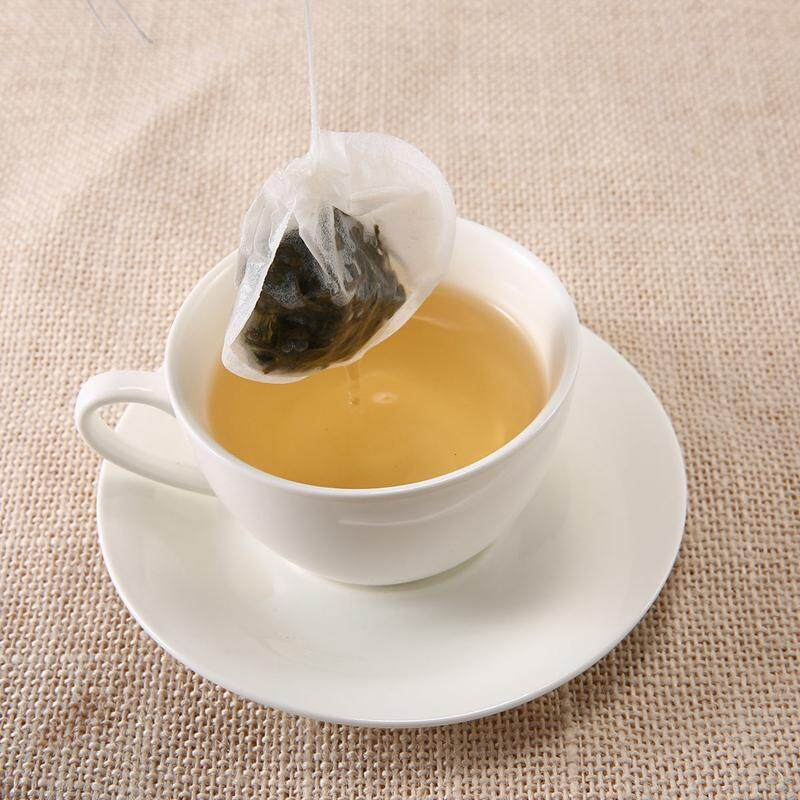 Kobwa 100 Pack Filter Paper Tea Bag Teas Coffee Herbs Bags Disposable Infuser Drawstring Empty For Loose Leaf