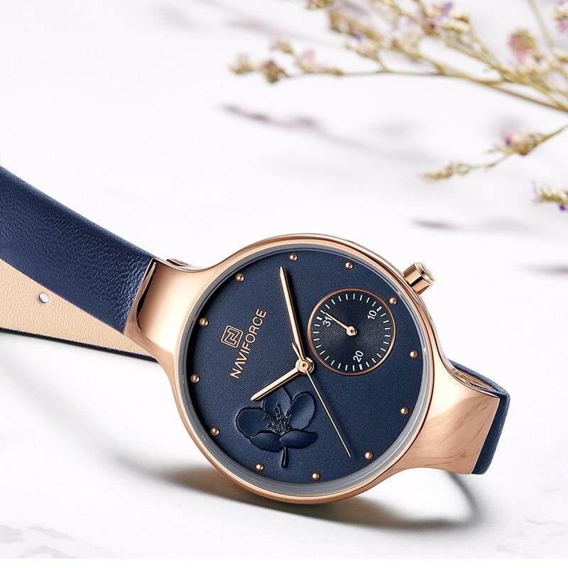 a6b6a5b362b Women Watches NAVIFORCE Luxury Brand Fashion Quartz Ladies Rhinestone Watch  Dress Wrist Watch Simple Blue Clock Relogio Feminino