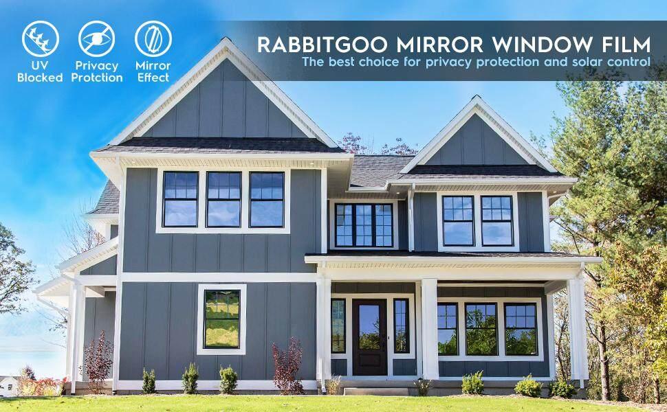 Rabbitgoo One Way Window Film Anti Uv