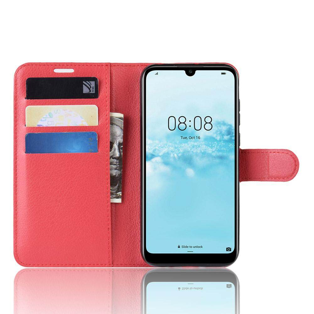 Wallet PU Leather Flip Back Cover for Huawei Y5 2019 Card Slots Kickstand  Phone Case Bag for Huawei Y5 (2019) Casing