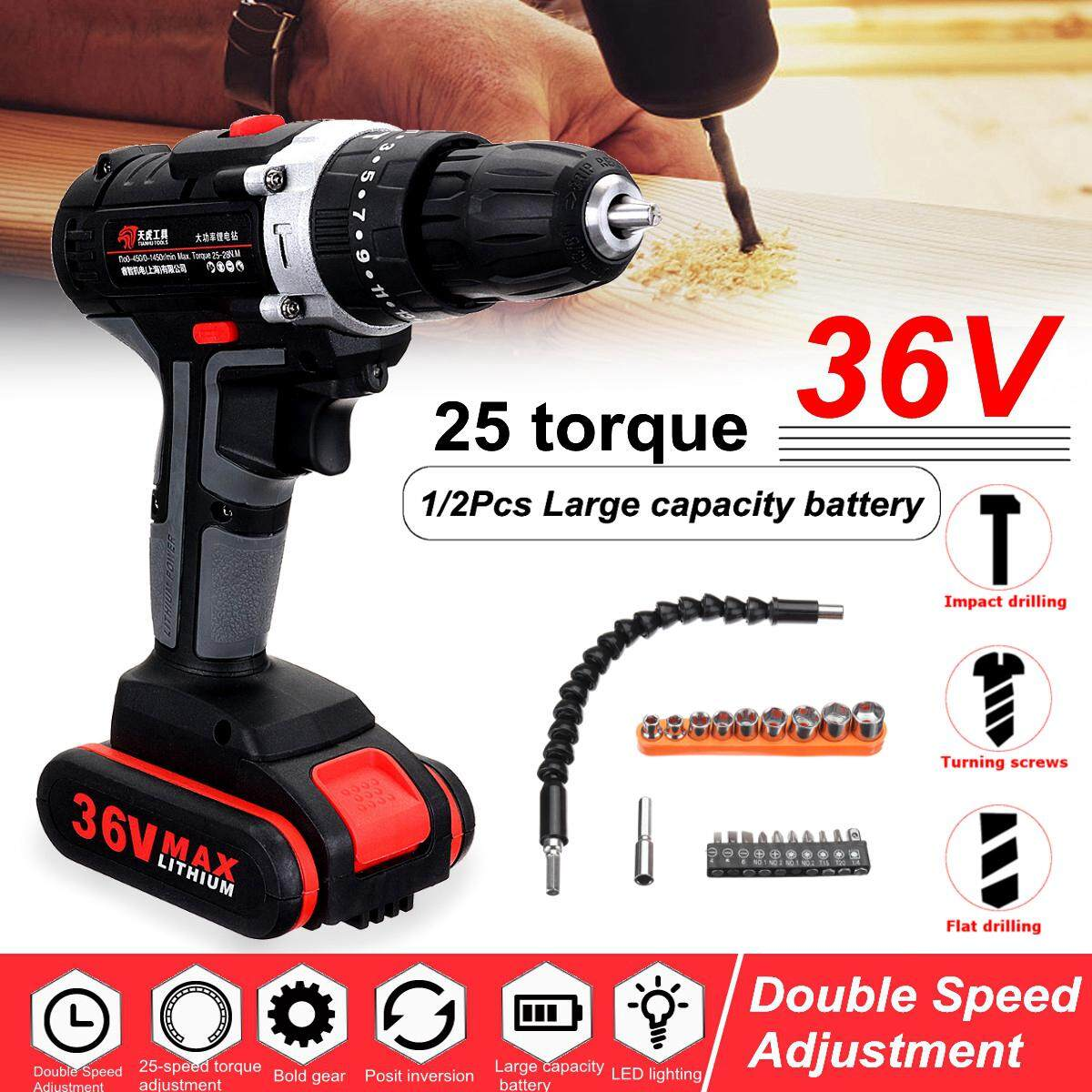Intelligent 48v 5000mah 25~28nm 25-speed Torque Double Speed Brushless Cordless Electric Drill Screwdriver Hammer Led Lighting Available In Various Designs And Specifications For Your Selection Tools Power Tools