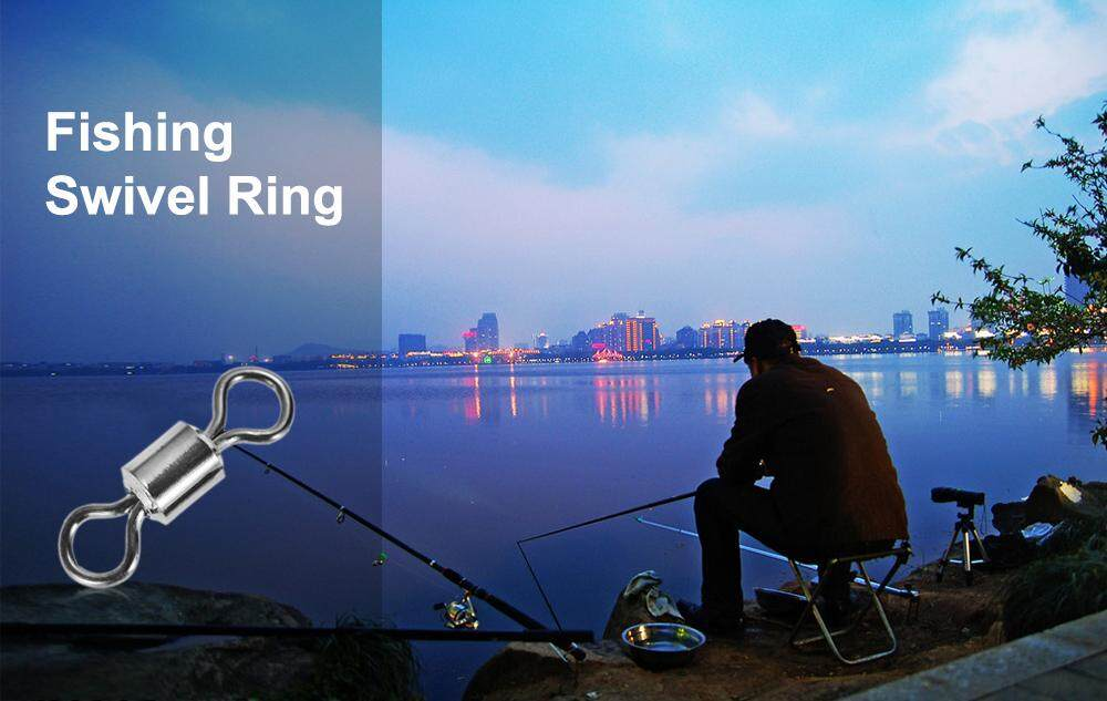 75pcs 8-shaped Brass Fishing Swivel Ring Line Connector with Storage Box
