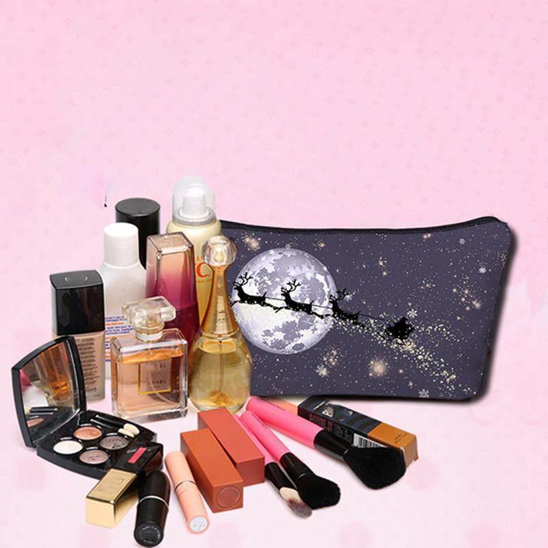 I-Cloud Cosmetic Bag Lady Portable 3D Printing Storage Wash Bag Clutch Bag