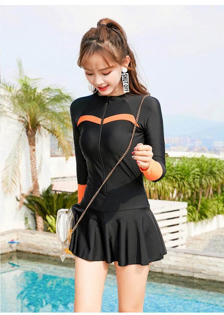 fec14a615f Specifications of M-4XL Plus Size Sports Swimwear Cute Woman Zipper One  Piece Swimsuit Skirts Bottom Beachwear Sexy Bathing Suit Women 2019 Zipper  Front ...