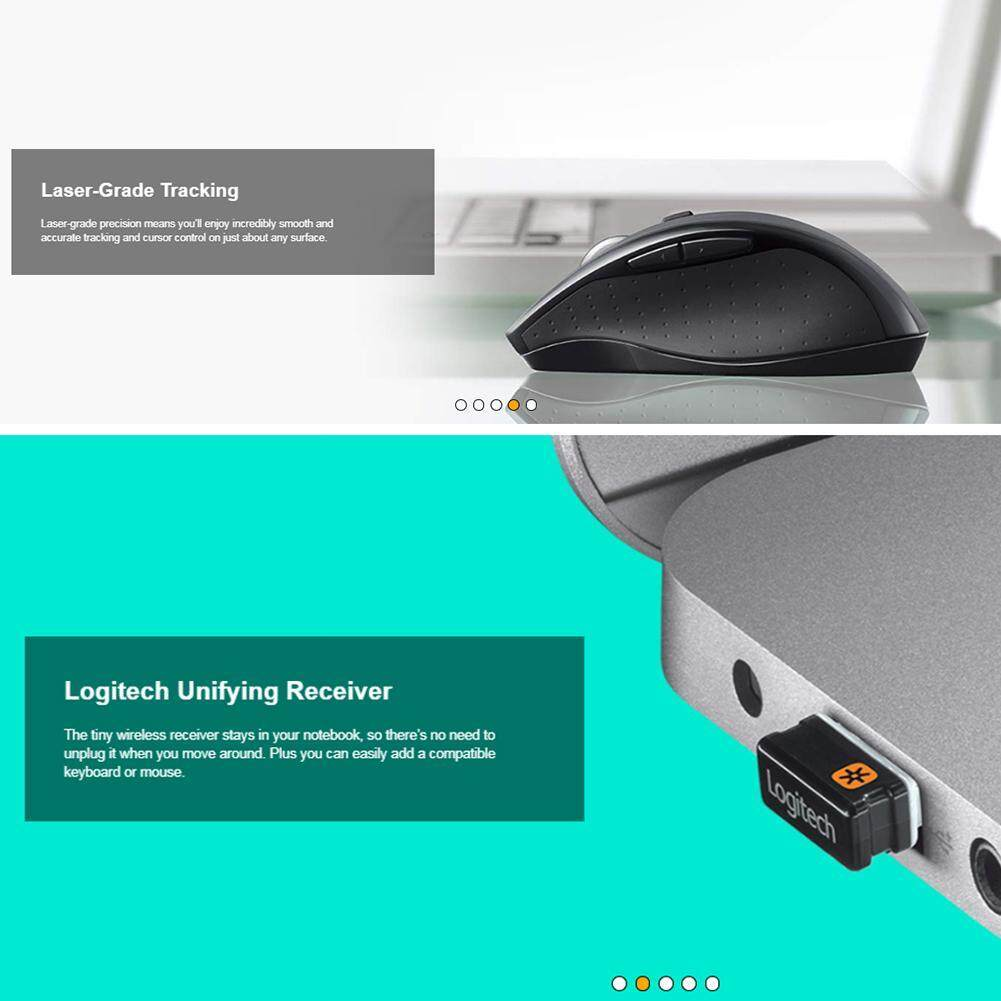 M705 Wireless Mouse 3 Year Battery Life USB Receiver Mice Grey FOR Logitech