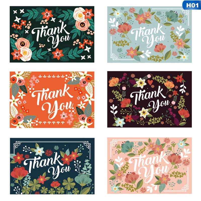 Hkf 6pcs New Year Christmas Gift Card Thank You Thank You Card Holiday Wishes Message Card Lazada Ph