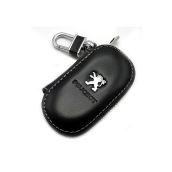 Harga 1 x Leather Black Key Wallet Car Key Case Leather Key Holder forPeugeot 508 408 RCZ 206 207 2008 ect 301 4007 Manager Partner
