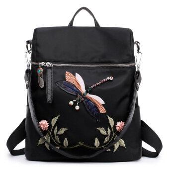 3D diamond handmade DRAGONFLY shoulder backpack shoulder bag