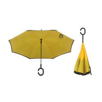 Harga 4CONNECT High Quality Unique Inverted Inside-Out Umbrella WithC-Hook Handle - YELLOW