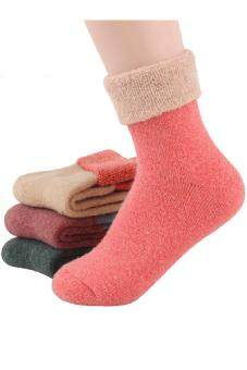 5 Pairs of Women Ladies Girls Women's Mixed Colors Winter Thick Warm Tube Socks