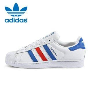 adidas shoes superstar blue. adidas originals superstar casual shoes bb2246 white/blue/red blue g