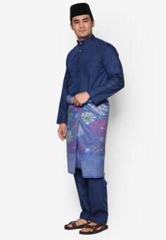 Amar Amran Baju Melayu Moden (Navy Blue) - 2