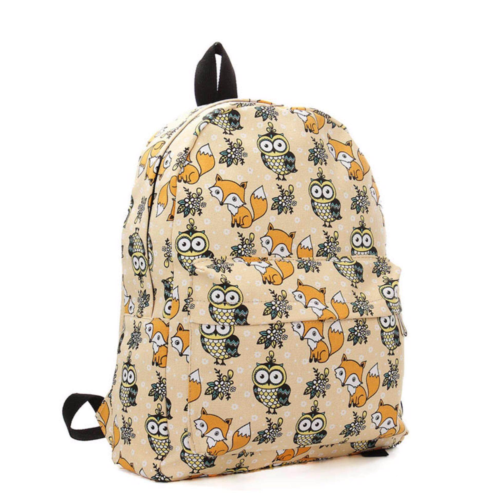amart owl fox backpack women fashion bags casual printing